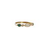 MISA JEWELRY - Aurora Opal, Emerald and Diamond Ring, Size 6.5