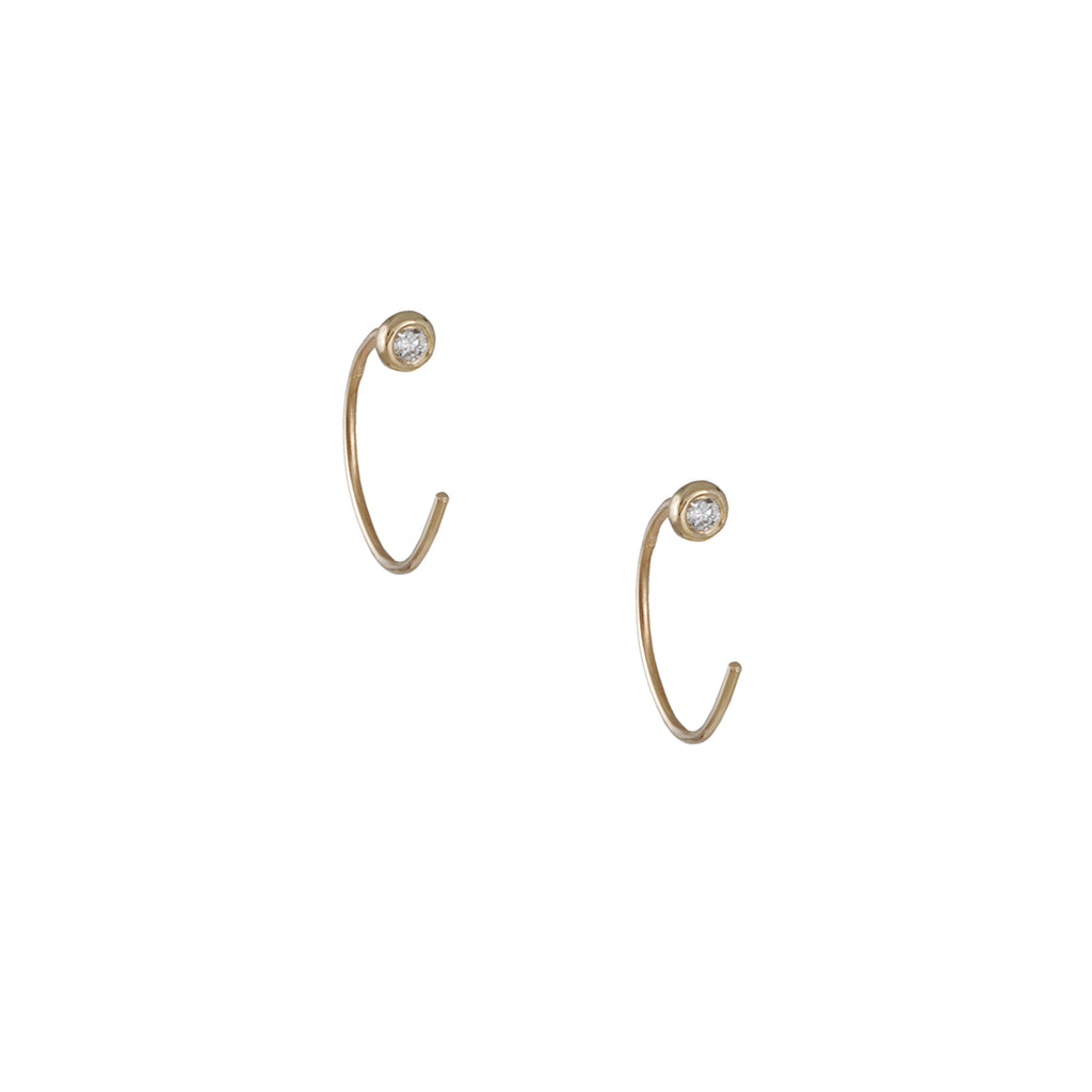 N+A New York - Diamond Dot Hoops
