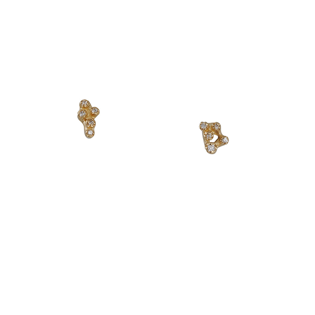 N+A New York - Asymetical Diamond Studs