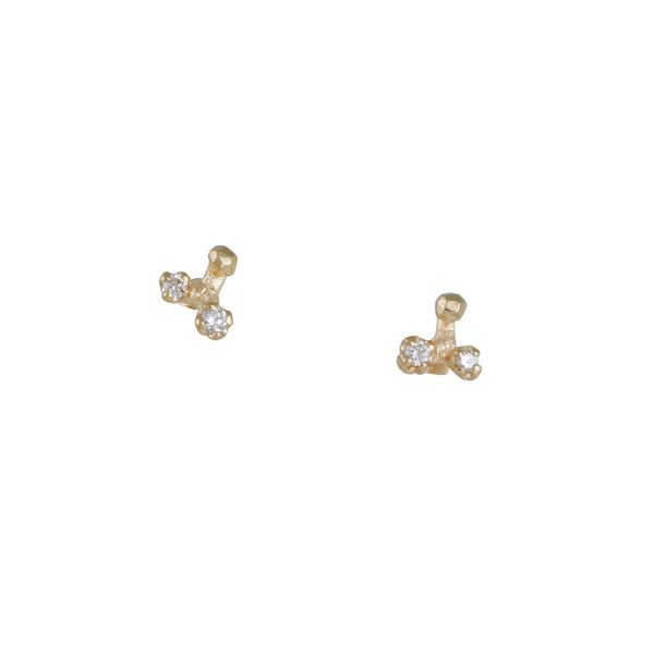 N+A New York - Diamond Tri Split Studs