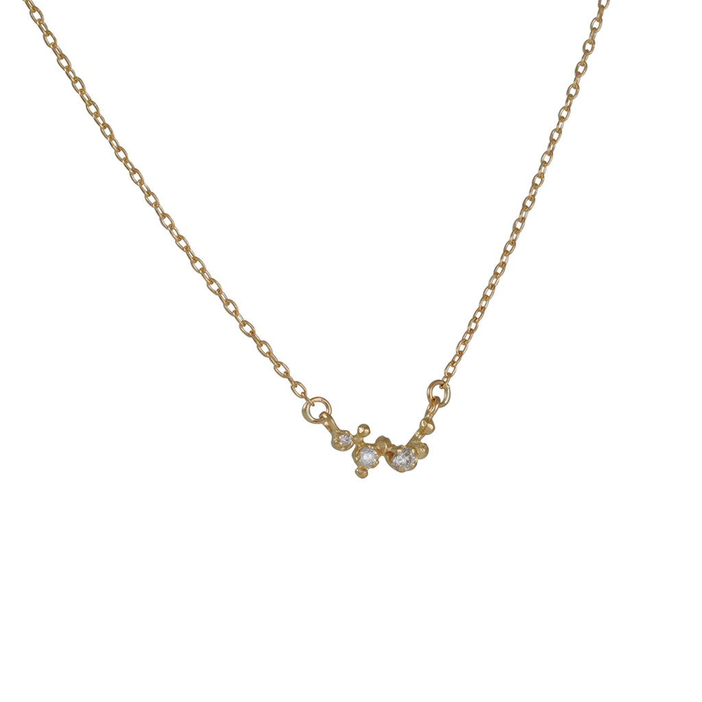 N+A New York - Triple Diamond Necklace