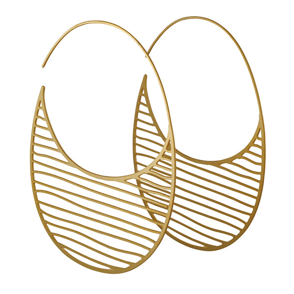 DAPHNE OLIVE - Striped Hoop Earrings