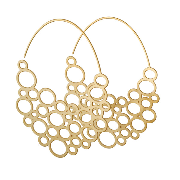 DAPHNE OLIVE - Large Circle Hoop Earrings