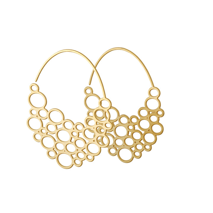 DAPHNE OLIVE - Tiny Circle Hoop Earrings