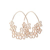 DAPHNE OLIVE - Small Hydrangea Hoops in Rose Gold