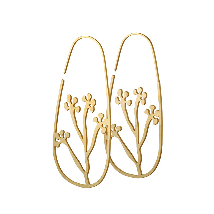 DAPHNE OLIVE - Small Cluterra Hoop in Gold