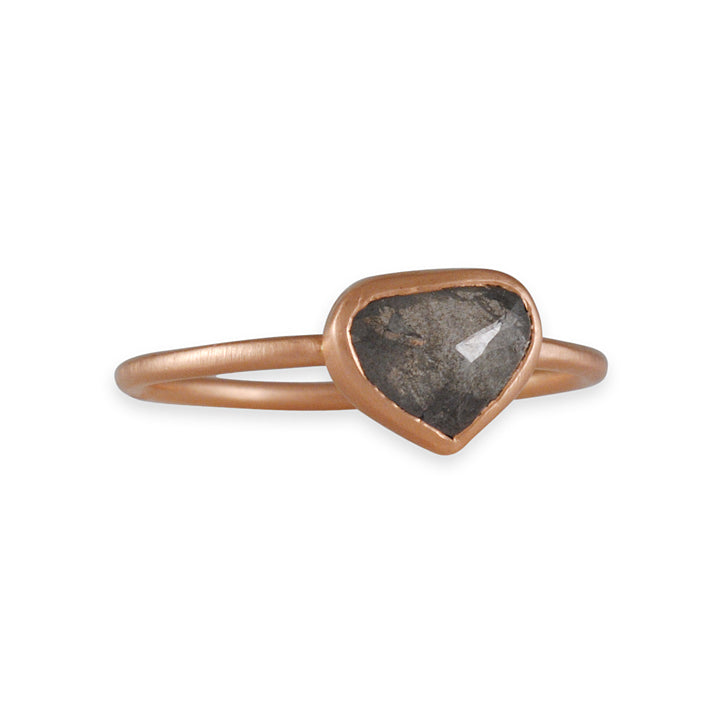 REBECCA OVERMANN- Grey Diamond Pear Solitaire