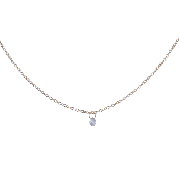 Rebecca Overmann - White Diamond Briolette Necklace