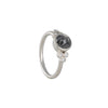 REBECCA OVERMANN- Dark Grey Misty Diamond Solitaire