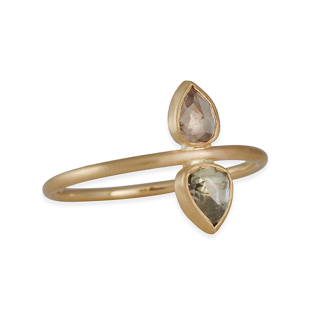 SALE - Double Pear Diamond Ring