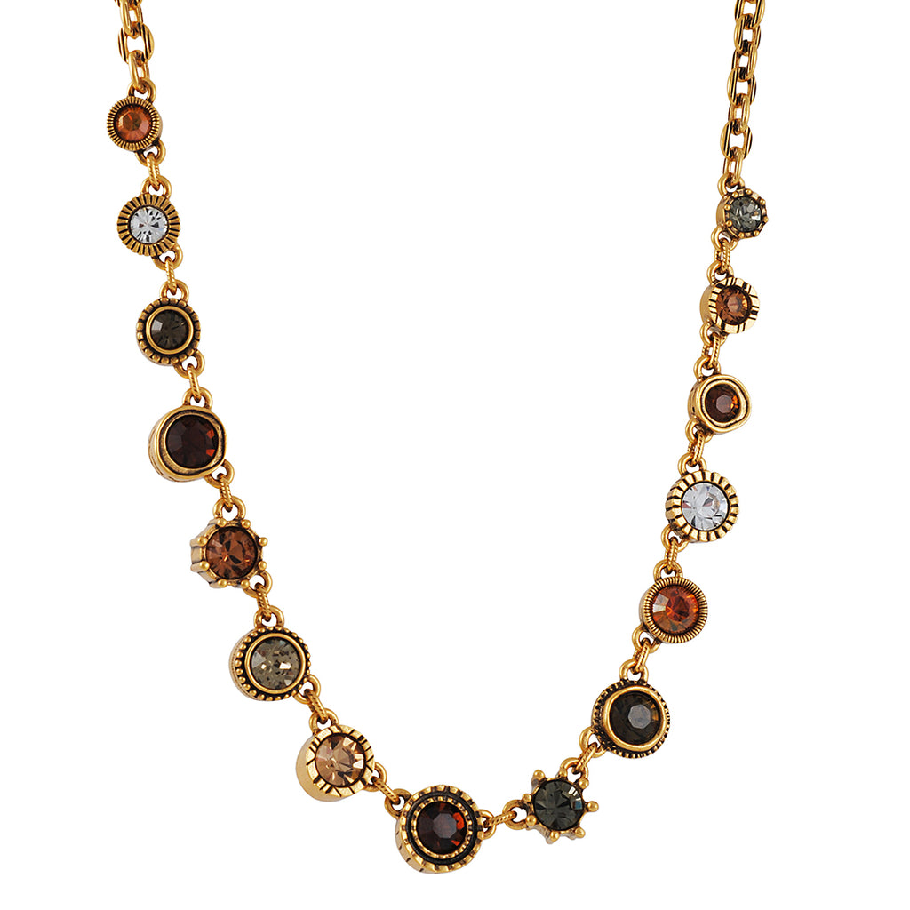 PATRICIA LOCKE - Get Around To it Necklace With Autumn Tweed Crystals