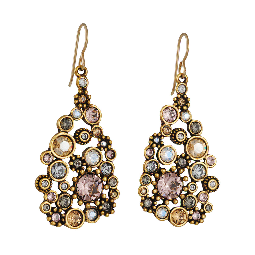 Patricia Locke - Glam Earrings in Champagne