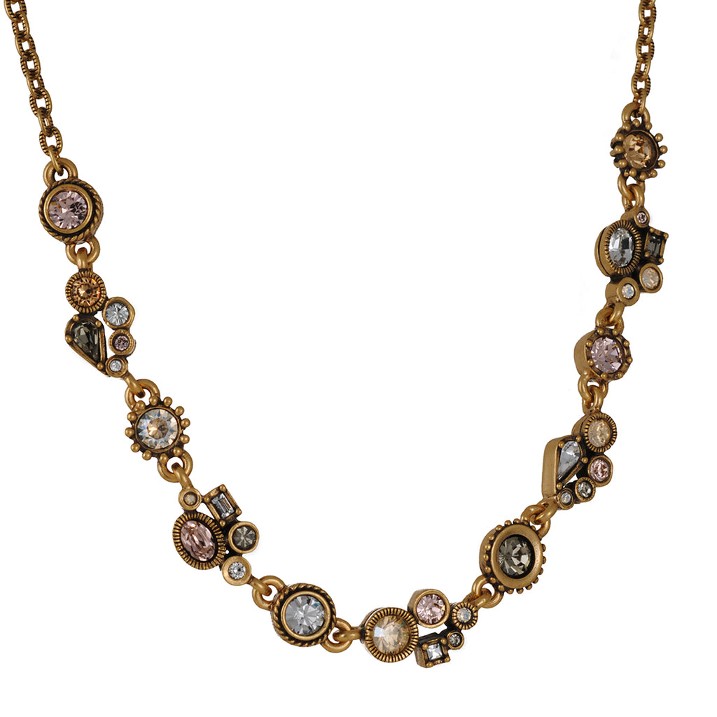 PATRICIA LOCKE - Petite Necklace, Gold Plated With Champagne Crystals