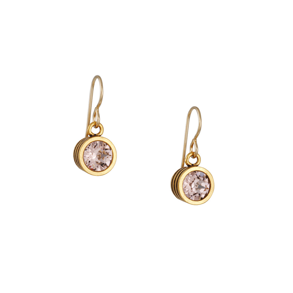 PATRICIA LOCKE - Slotted Classic Champagne Crystal Earrings