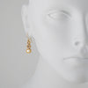 PATRICIA LOCKE - Sprite Drop Earrings, Gold Plated With Champagne Crystals