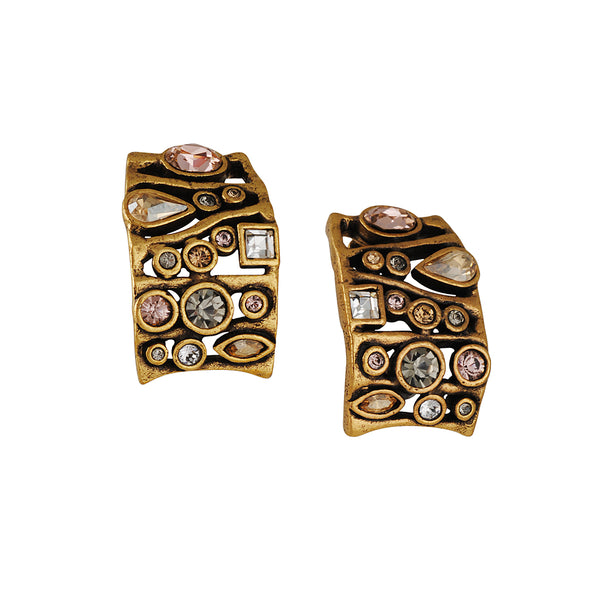 PATRICIA LOCKE - Voyages Clip On Earrings in Champagne