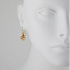 PATRICIA LOCKE - Wee Drop Earrings, Gold Plated With Champagne Crystals