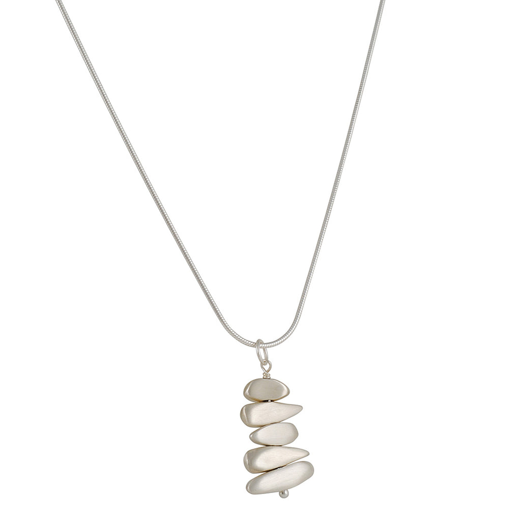 PHILIPPA ROBERTS - Organic Pebbles Pendant Necklace in Sterling Silver