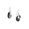 PHILIPPA ROBERTS - Faceted labradorite and Blue Topaz Sterling Silver Cluster Earrings