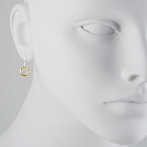 Philippa Roberts - Two Circle Mixed Metal Earrings