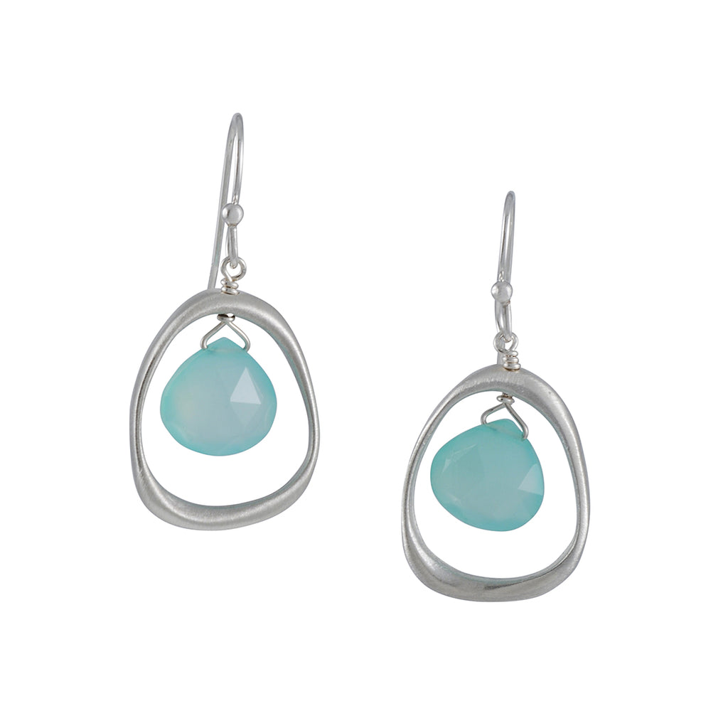 Philippa Roberts - Open Circle Drop Earrings