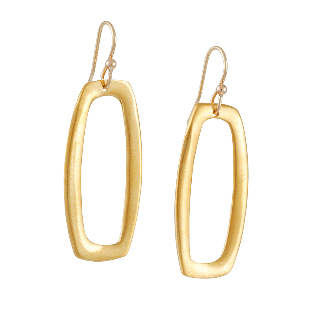 Philippa Roberts - Open Squared Oval Earrings