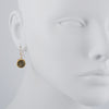 PHILIPPA ROBERTS - Round Labradorite Drop Earrings in Gold Vermeil