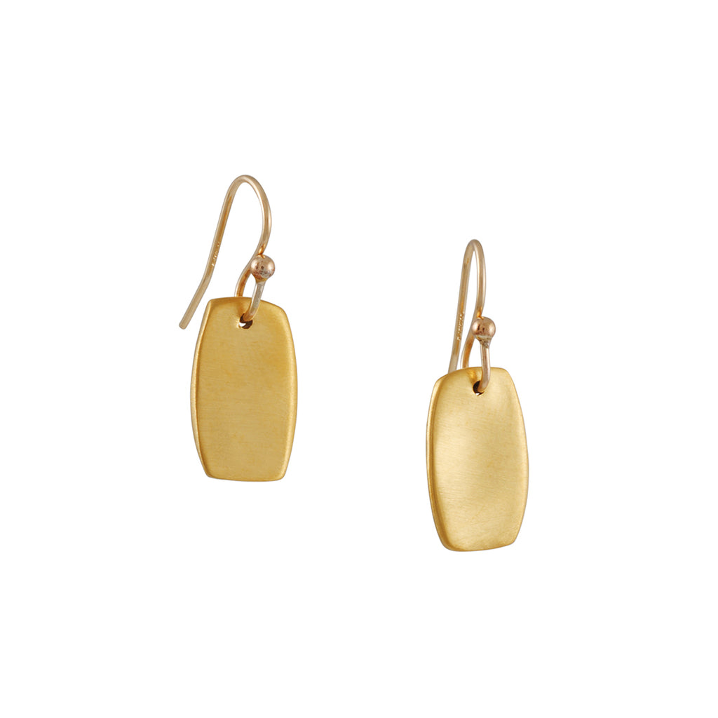 PHILIPPA ROBERTS - Small Tab Drop Earrings in Gold Vermeil