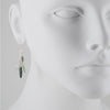 PHILIPPA ROBERTS - Kyanite and Aqua Cluster Drop Earrings in Sterling Silver