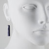 PHILIPPA ROBERTS - Rectangle Lapis Earrings in Sterling Silver
