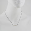 PHILIPPA ROBERTS - Faceted Tube Necklace in Sterling Silver