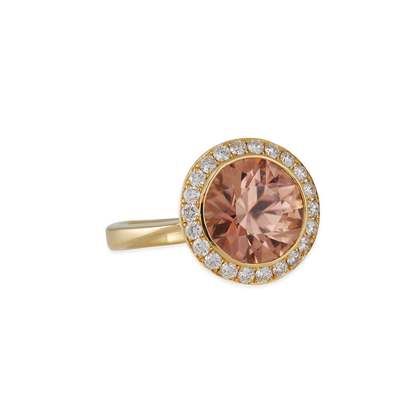 Ray Griffiths - Natural Zircon and Diamond Ring