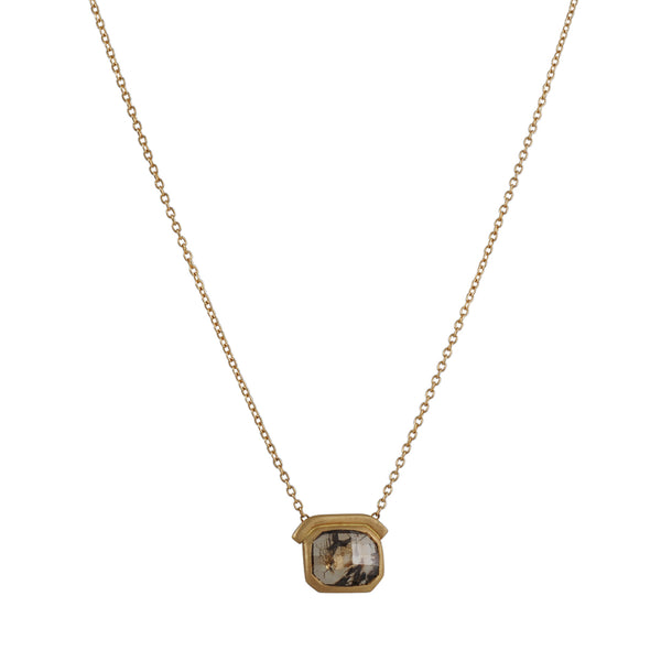 Rebecca Overmann - Rosecut Raw Diamond Necklace