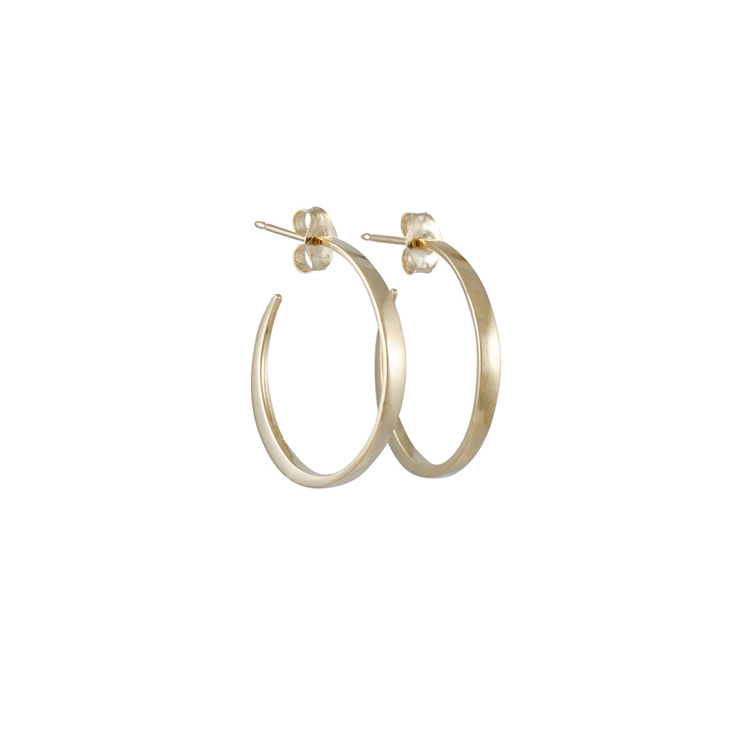 REBECKA FROBERG - Medium Always Here Hoops in 10K Gold