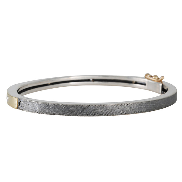 Renee Escobar -  Five Diamond Sprinkle Narrow Hinged Bangle