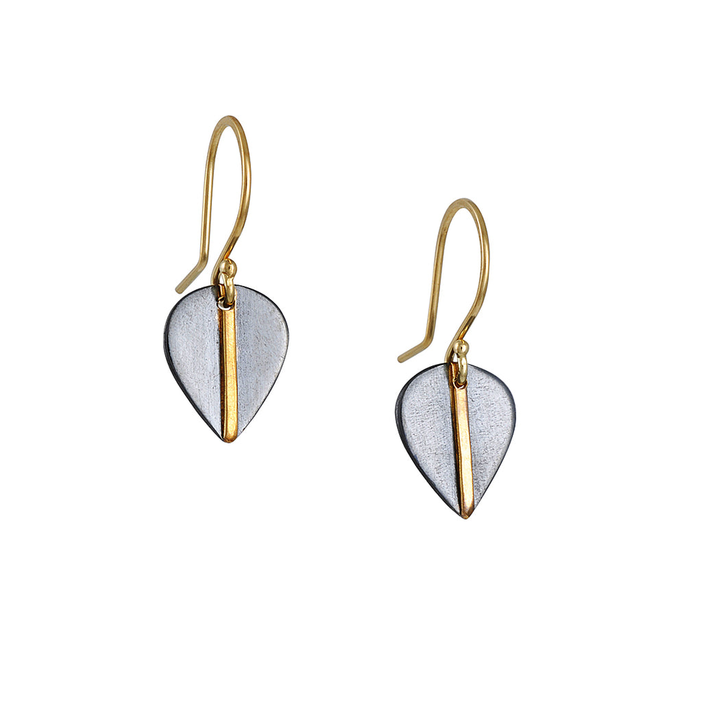 Sarah McGuire - 2-Tone Mod Leaf Earrings