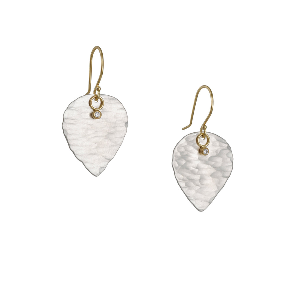 Sarah McGuire - Ridged Astrid Leaf Earrings
