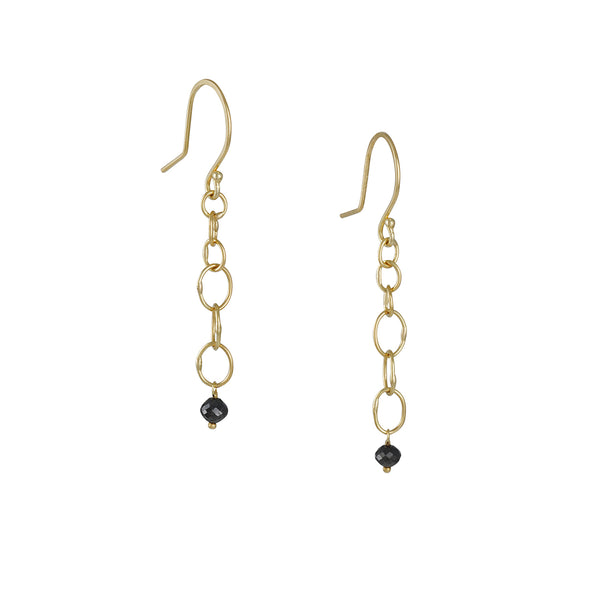 Sarah McGuire - Babble Drop Earrings with Black Diamonds