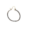 Sarah McGuire - Bias Oval Hoop with Diamond