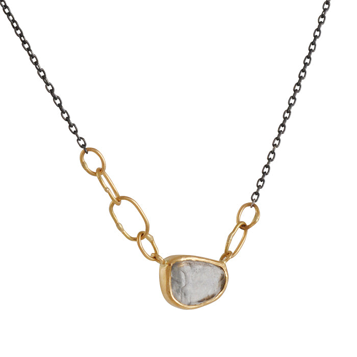 SARAH MCGUIRE- Horizontal Bail Necklace with Sapphire