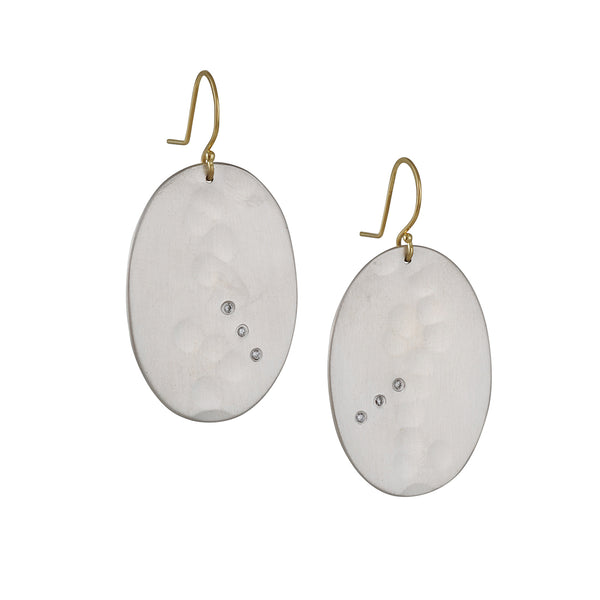 Sarah Mcguire - Oval Amulet with Diamond Earrings