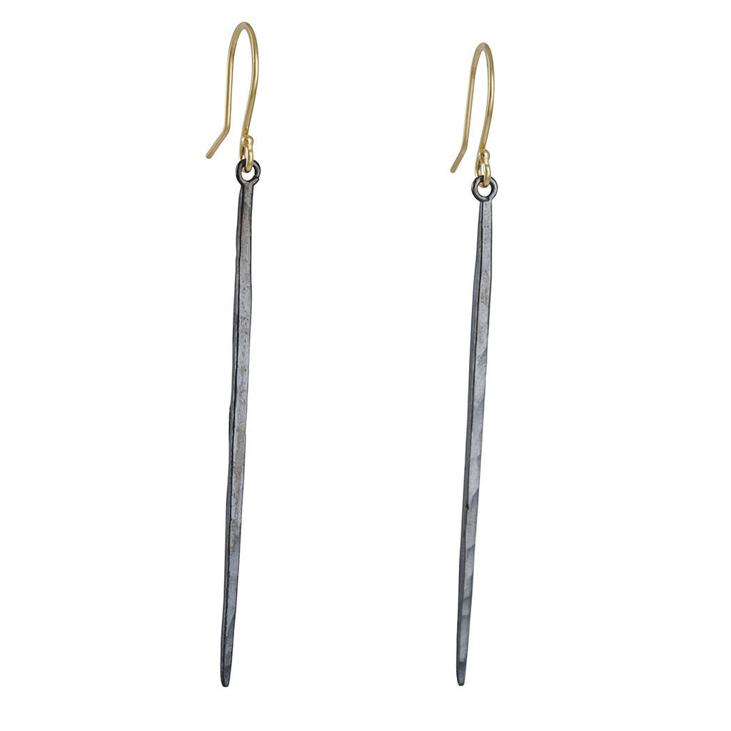 SARAH MCGUIRE - Long Mixed Metal Icicle Earrings