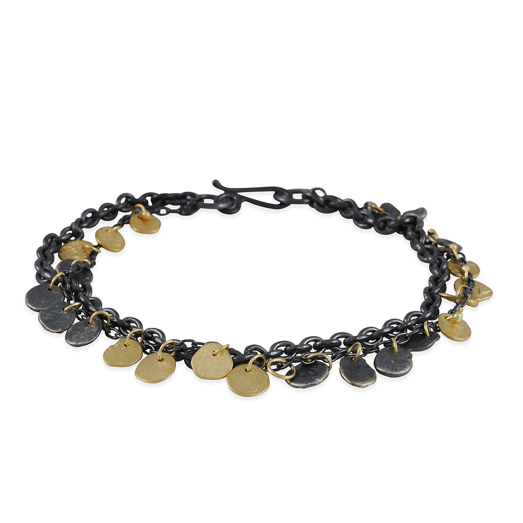 SARAH MCGUIRE -Two Tone Kelp Chain Bracelet in 18ky