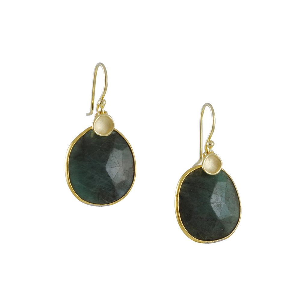 Sarah Richardson - Green Sapphire Pod Earrings