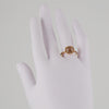 SETHI COUTURE BRIDAL- Cushion Shaped Peach Diamond Solitaire with Halo