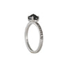 SETHI COUTURE BRIDAL- Oval Black Diamond Four Prong Solitaire