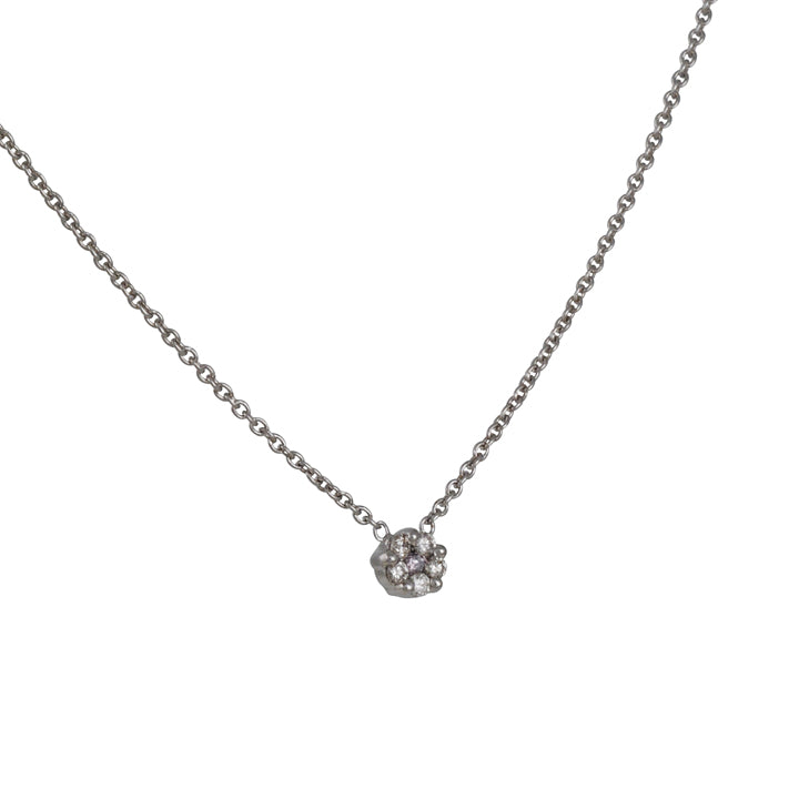 SETHI COUTURE - Rosetta Diamond Necklace in White Gold