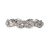 SALE - Leaf Eternity Band in White Gold, Size 6.5