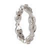 SETHI COUTURE BRIDAL- Leaf Eternity Band in White Gold