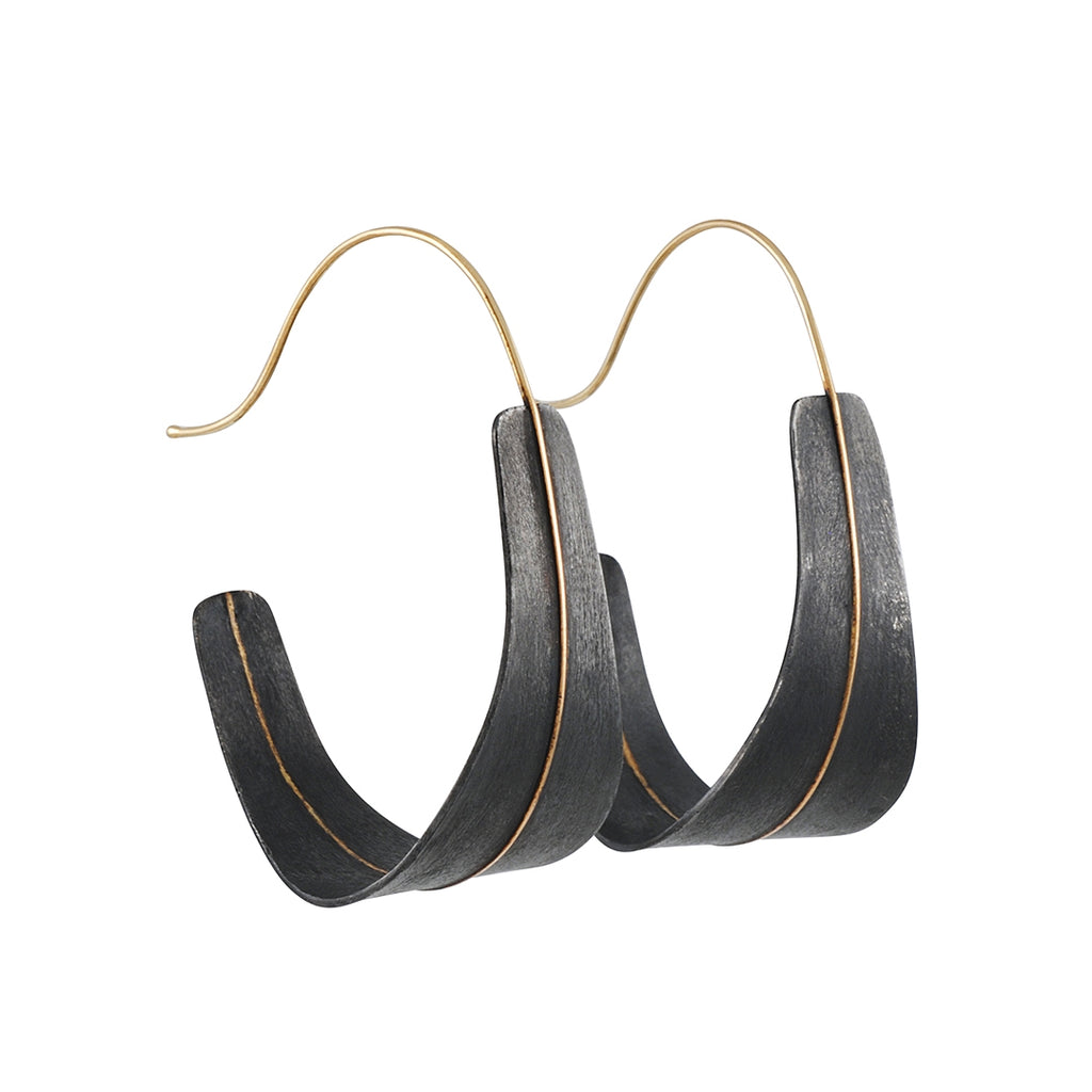 Shaesby - Long Shield Earrings